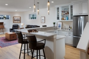 Gathering Space with Wet Bar